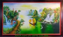 Tranh sơn dầu phong thủy thuận buồm xuôi gió TSD192