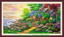 Tranh ngôi nhà châu âu vẽ sơn dầu TSD136-01