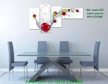 Tranh trang trí phòng ăn hiện đại trái táo AmiA 963