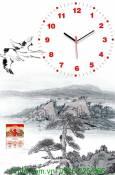 Mẫu tranh đồng hồ lịch tết cảnh non nước AmiA TL10