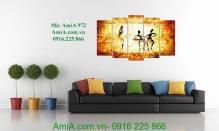 Mẫu tranh trang trí nghệ thuật trừu tượng AmiA 972
