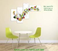 Tranh hoa quả thực phẩm trang trí phòng ăn AmiA 974