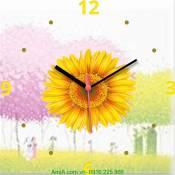 Đồng hồ tranh hoa hướng dương Amia DH022