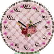 Đồng hồ tranh treo tường hoa hồng phong cách cổ điển Amia DH025
