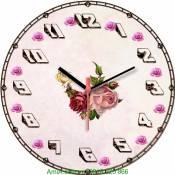 Đồng hồ tranh treo tường hoa hồng Amia DH026