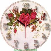Đồng hồ tranh treo tường hoa hồng dây Amia DH028