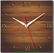 Đồng hồ tranh treo tường vân gỗ Amia DH029