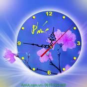 Đồng hồ tranh treo tường hoa mai chữ Phúc DH32