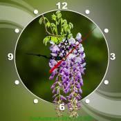 Đồng hồ tranh hoa tím nghệ thuật AmiA DH33