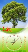 Đồng hồ tranh lịch tết cây xanh phát lộc AmiA TL17