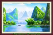 Tranh phong cảnh đẹp quê hương Việt Nam AmiA 986