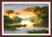Tranh phong cảnh thiên nhiên đẹp nắng mai AmiA 987