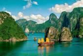 Phong cảnh thiên nhiên Vịnh Hạ Long - Tranh đẹp AmiA 989