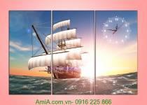 Quà tặng tân gia thuận buồm xuôi gió in ép gỗ AmiA 1007