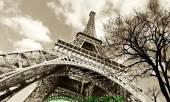 Mẫu tranh tháp Eiffel thiết kế vintage một tấm AmiA 1029
