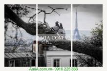Tranh trang trí nghệ thuật dôi chim bồ câu AmiA 2010