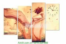 Tranh đồng hồ nghệ thuật hình cô gái AmiA 2014