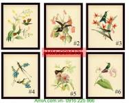 Bộ khung tranh nghệ thuật hoa lá AmiA 2022