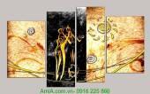 Tranh trừu tượng đa màu sắc AmiA 1048