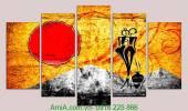 Tranh trang trí trừu tượng nghệ thuật AmiA 1049