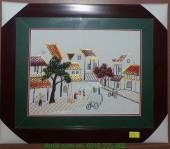 Bức tranh thêu đường phố bằng tay cao cấp AmiA TTH 143