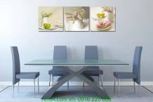 Tranh bình hoa quả trang trí phòng ăn nhà bếp AmiA 1088