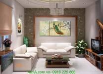 Tranh đôi chim công trang trí Tết AmiA 1099