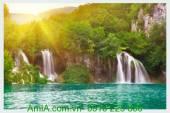 Tranh thác nước đẹp lúc bình minh AmiA 176955228