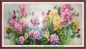 Tranh hoa mẫu đơn vẽ sơn dầu AmiA TSD 196