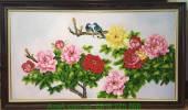 Tranh đôi chim hoa mẫu đơn AmiA TSD 197