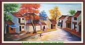 Tranh sơn dầu phố cổ AmiA TSD 199