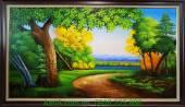 Tranh phong cảnh thiên nhiên cây xanh vẽ sơn dầu TSD 139