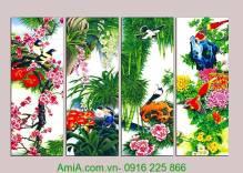 Tranh bốn mùa: Xuân hạ thu đông AmiA 1114