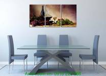 Mẫu tranh trang trí phòng ăn: Bàn hoa quả AmiA 1127