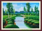 Tranh sơn dầu phong cảnh thiên nhiên đẹp TSD 163