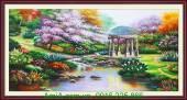 Tranh sơn dầu khổ lớn phong cảnh thiên nhiên đẹp TSD 174