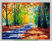 Tranh canvas phong cảnh mùa thu lá đỏ Amia 4111