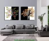 Tranh canvas cây đời ghép bộ 2 tấm AmiA 4105