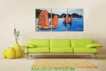Tranh sơn dầu phong thủy: Thuận buồm xuôi gió TSD 218