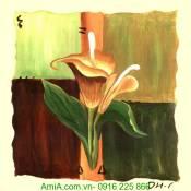 Tranh canvas đẹp hoa rum AmiA 4141