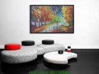 Tranh canvas phong cảnh đẹp: Ghế đá mùa Thu AmiA 4116
