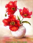 Tranh bình hoa đẹp trang trí nội thất AmiA 4150