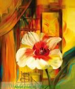 Mẫu tranh canvas hoa lá nghệ thuật AmiA 4151