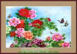 Tranh hoa mẫu đơn và đôi bướm AmiA 4155