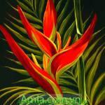 Tranh canvas hoa lá nghệ thuật một tấm AmiA 4156