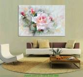 Tranh canvas hoa hồng trang trí nội thất AmiA 4175