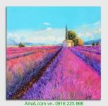 Tranh canvas đồng hoa oải hương AmiA 4177