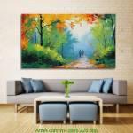 Tranh canvas con đường mùa Thu AmiA 4178