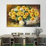 Tranh canvas bình hoa cúc họa mi AmiA AmiA 4179