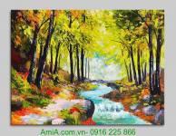 Tranh phong cảnh dòng sông mùa Thu AmiA 4182